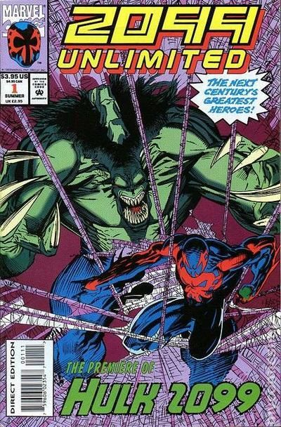 2099 Unlimited #1 featuring the Hulk Spideman cover Incredible Marvel 2099