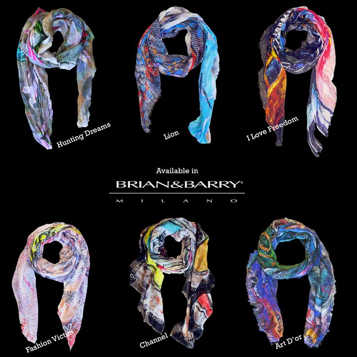 """The collection of 6 foulards is now available in Brian&Barry Bulding, via during 28, milano! you can see the rest of the collection of our """"ART TO WEAR"""" project on www.siberiansoupfullart.com"""