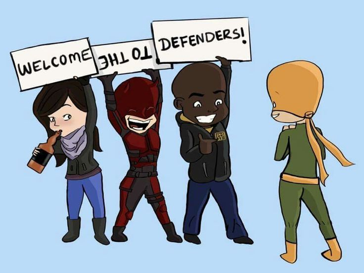 OH MY GOD. Of course Daredevil would end up being the one holding it upside down. OF COURSE HE WOULD. Fuck, I love the Defenders.
