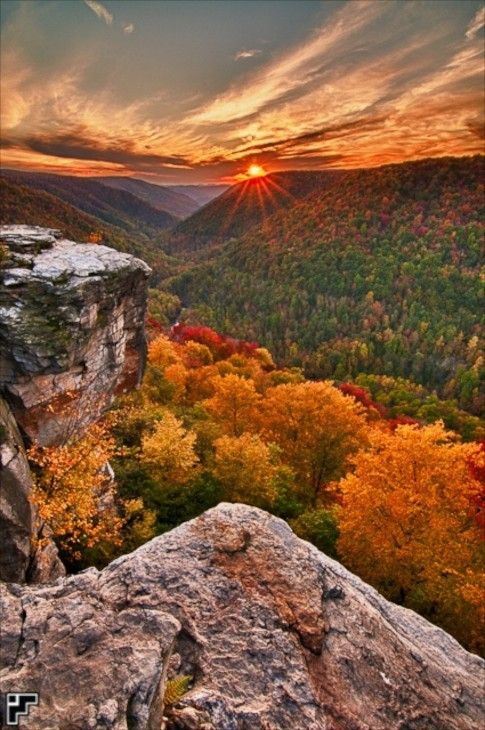 Lindy Point Sunset - Blackwater Falls State Park, West Virginia by Kevin Funk photography
