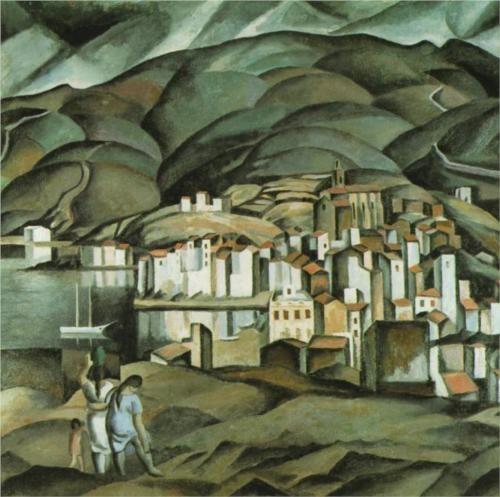 Salvador Dali (1904 - 1989)   Post- Impressionism   Cadaques - 1923