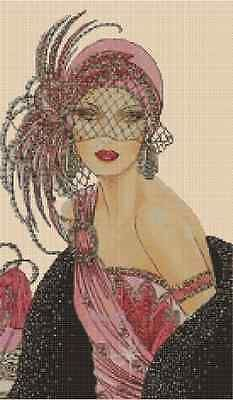 Cross Stitch Chart ART DECO LADY IN PINK DRESS No. 10vb-47 (Large Print) in Crafts, Needlecrafts & Yarn, Embroidery & Cross Stitch, Hand Embr Patterns & Magazines, Cross Stitch Patterns | eBay