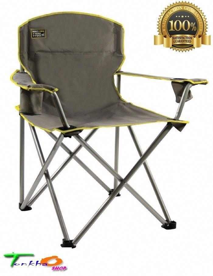 Heavy Duty Oversize Folding Chair Patio Deck Fishing Bbq Camping