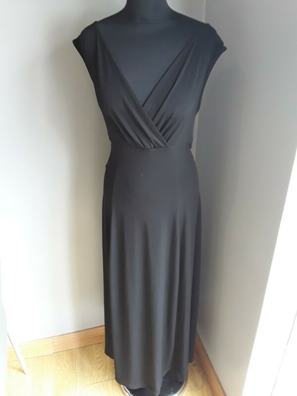 Joanna Hope Gorgeous Black V Neck Maxi Evening Cocktail Dress Size 16 Ex Dresses Ebay Link In 2020 Cocktail Evening Dresses Maxi Dress Evening Maxi Dress Prom
