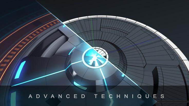 Futuristic Neon Intro Tutorial - Part 1 (Cinema 4D Modelling)