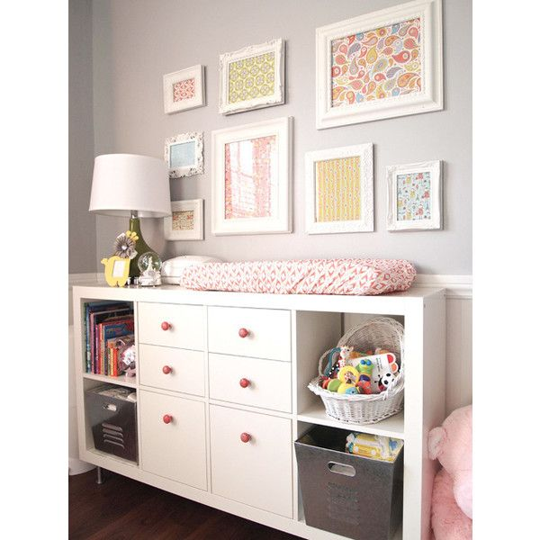 Changing Table and Bookcase - Transitional - nursery - Cape 27 ❤ liked on Polyvore featuring rooms, home and house