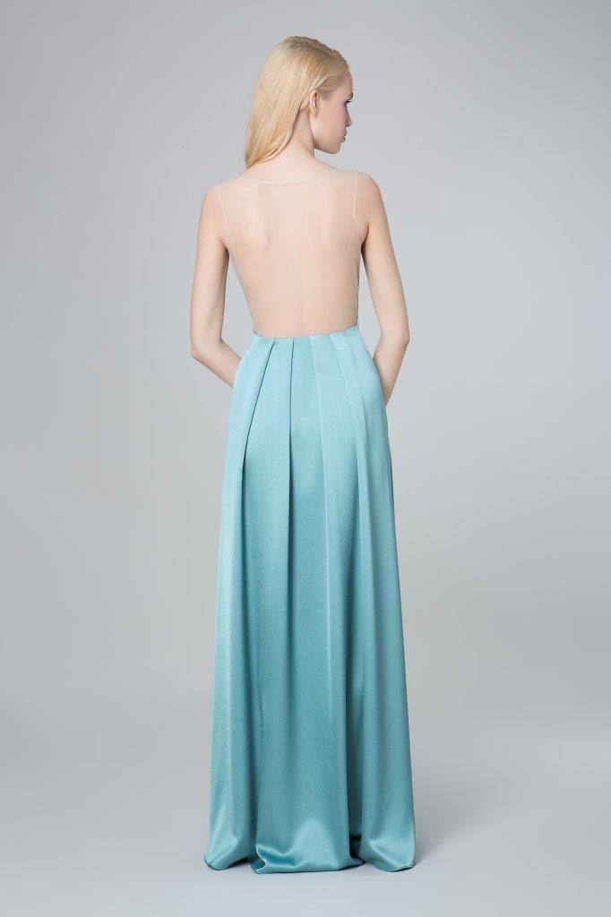 SADONI evening dress ZAHARA blue with transparent back