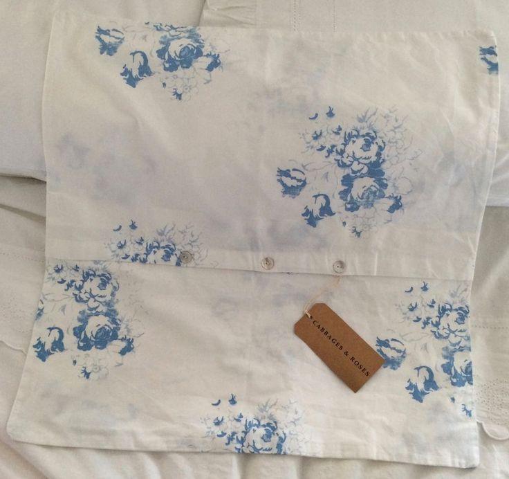 Hatley Blue Cotton Cushion Cover