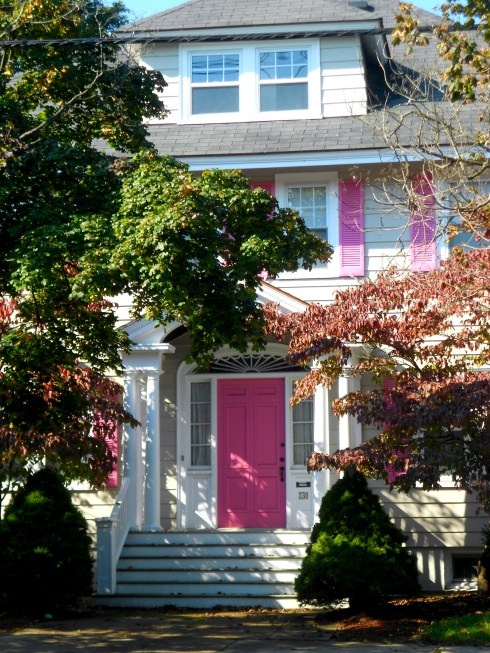Pink Door, Salem, Massachusetts: Pink Door, Salem, Massachusetts Front Door Colours