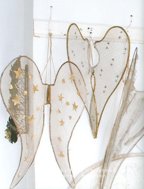 "DIY angel wings; ""My Shabby Streamside Studio"""
