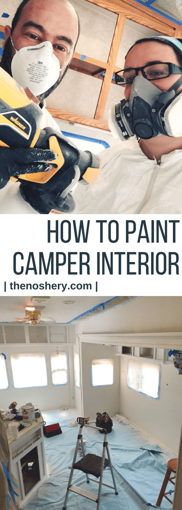 How to Paint Camper Interior |  Learn how to paint camper interior and bring and old camper back to life. | The Noshery