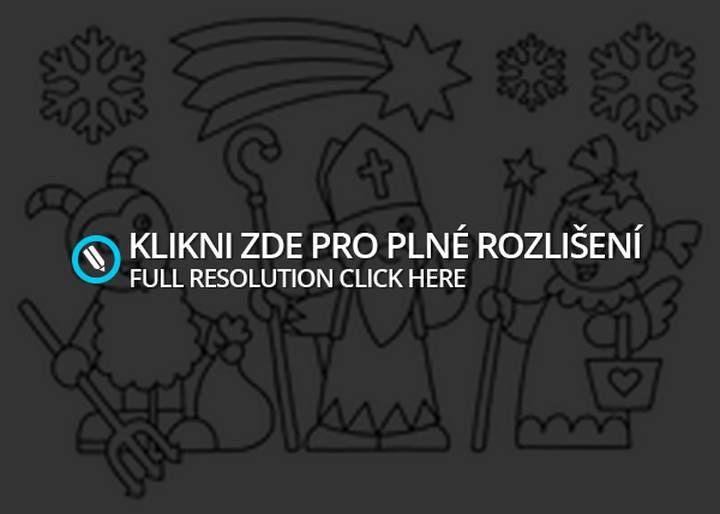 Čert a Mikuláš omalovánky | Zábavné stránky, příměstský tábor Plzeň, kurzy