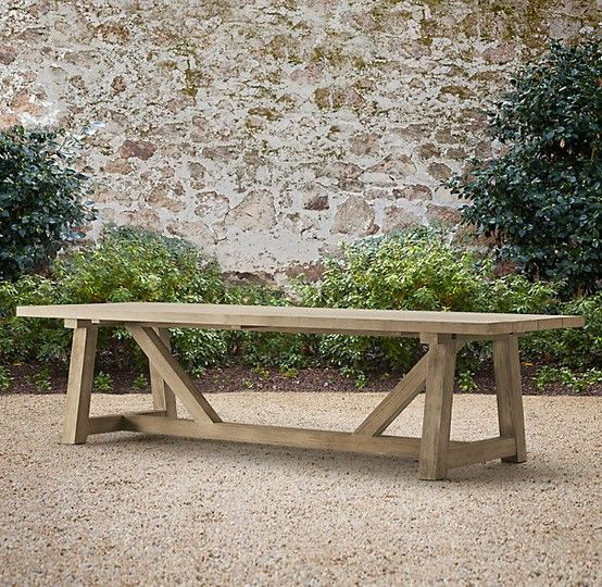 DIY plans for giant outdoor dining table