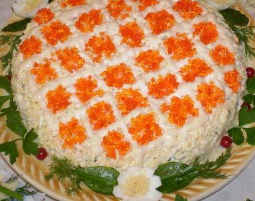 Праздничные салаты из бараньего мяса