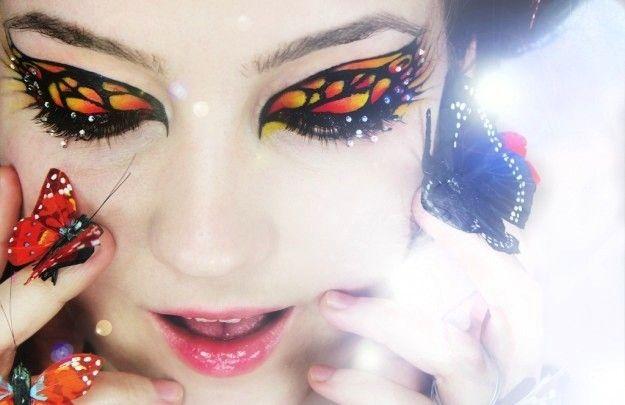 Make up occhi da farfalla nei toni dell'arancio