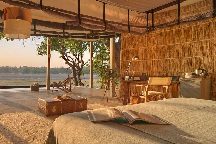 Ultra-luxe bush boutique hotel in Zambia! Chinzombo Camp, South Luangwa, Zambia