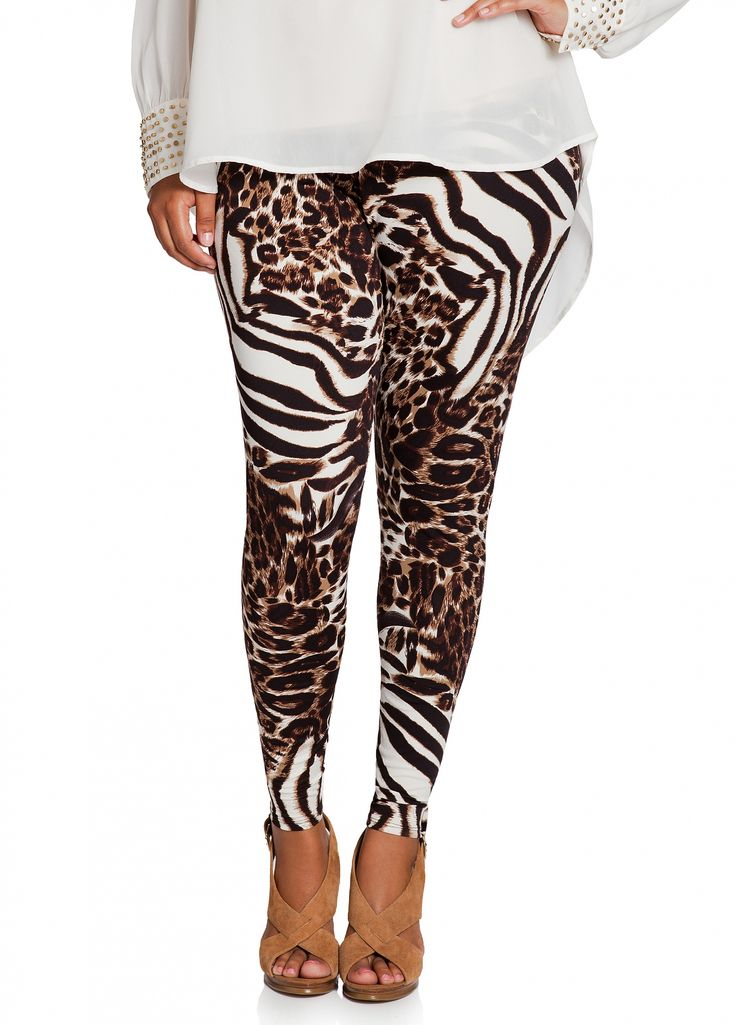 Ashley Stewart: Animal Print Legging