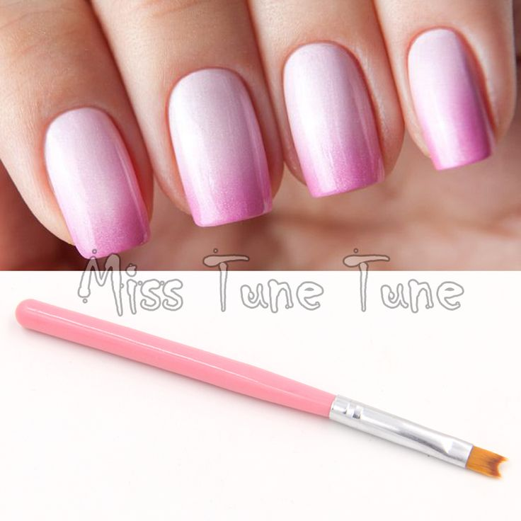 1PCS Pink Acrylic UV Gel Polish Nail Art Painting Drawing French Negative Space Nails Tips Pen Brush Fish Tale Design DIY Tools