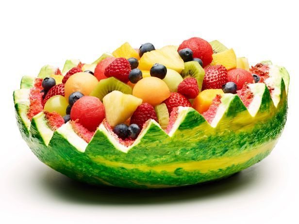 Fruit Basket...or Fruit Cake? Actually, it's BOTH! Find out how to make a Watermelon Fruit Basket Cake via Food Network Magazine.