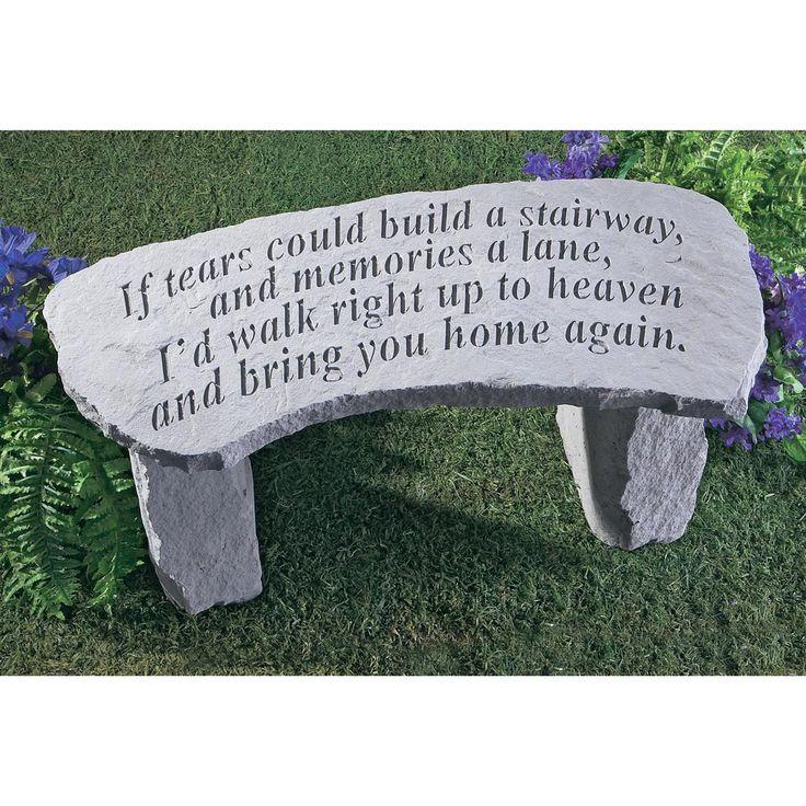 Best Garden Memorials Benches Images On Pinterest Garden