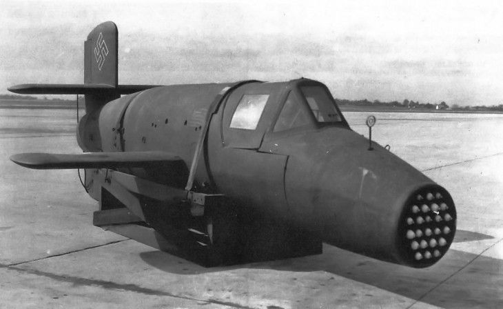 "Bachem Ba 349 ""Natter"" - vertical takeoff, rocket-powered interceptor death trap - Diseno-art"