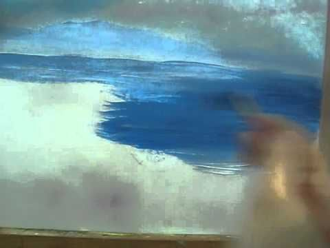 """Acrylic Painting - Water easy painting Try It Now!VERY EASY Acrylic Lesson  This is Part 3/7 of a beautiful seascape painting.  If you want to watch all series in 1 short videa watch:  """"Acrylic Lesson Online - How To Paint A Picture With Acrylic""""  To watch all 7 videos of this painting   Here are the titles:  Paint a sky with acrylic  1/7  Acryl..."""