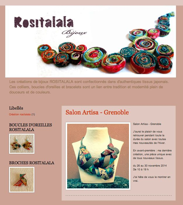 Rositalala crée des colliers en tissus japonais rositatalala.blogspot.com
