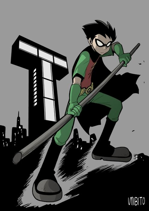 Robin is more responsible in the original tv show than teen titans go in my opinion