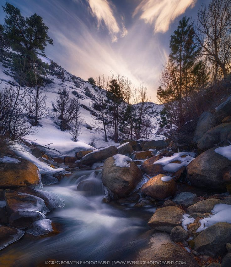 Just returned from my Sierra Nevada trip. The place looks great, as always, but now with the sheer amount of snow it looks astonishing. Small creeks picked up a lot of water from a slowly melting snow creating small waterfalls/cascades. This shot was taken at late sunset in the area close to the Yosemite Airport. It's a vertical panorama consisting of 4 horizontal shots stitched in Lightroom. View it on black.