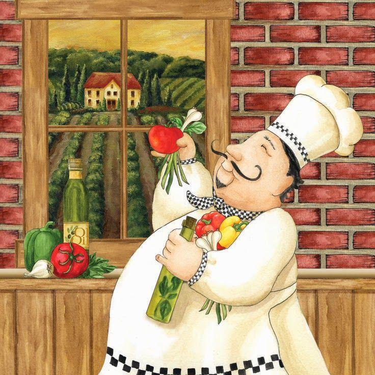 Frameless Modern Cartoon Chefs Canvas Prints Restaurant: 395 Best Cartoon CHEFS..... Images On Pinterest