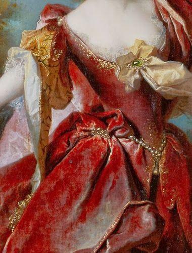 Portrait of the actress Marie-Anne de Chateauneuf, by Nicolas de Largillierre,1712 (detail) ~ VoyageVisuelle ✿⊱╮