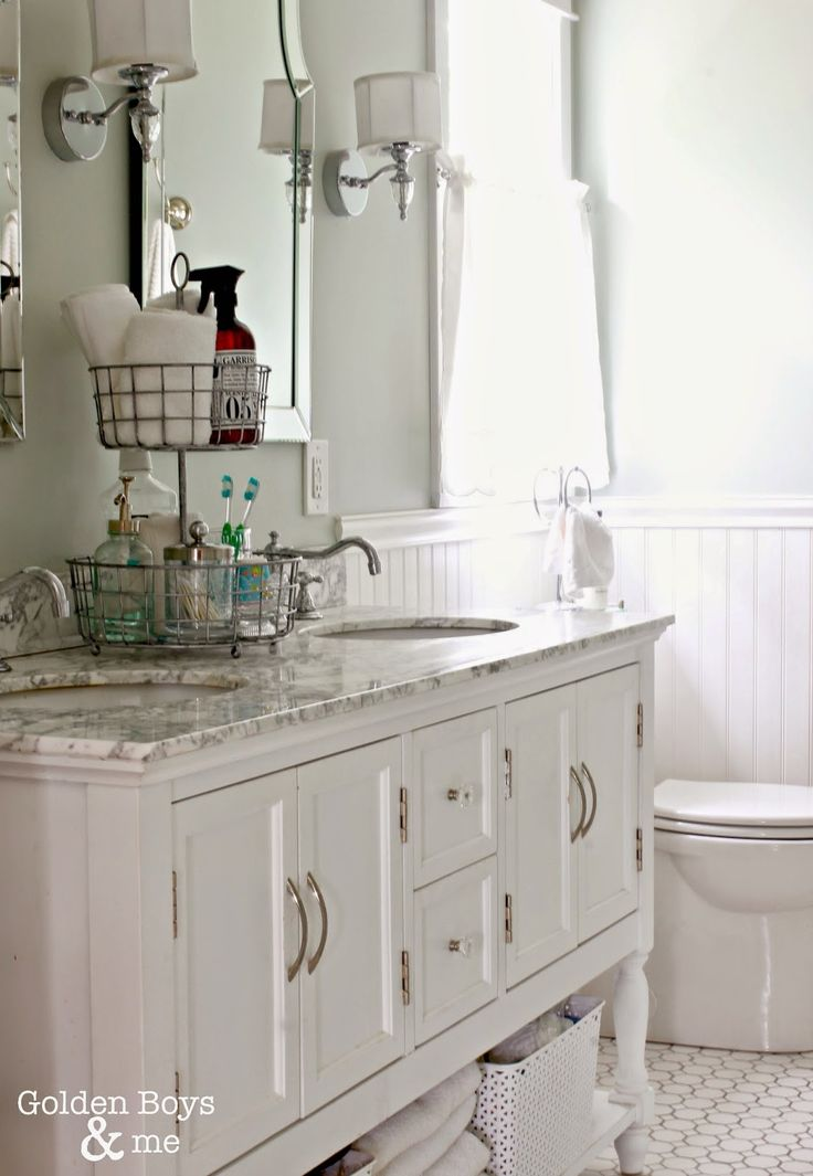 87 Best Images About Bathroom On Pinterest Double Sinks