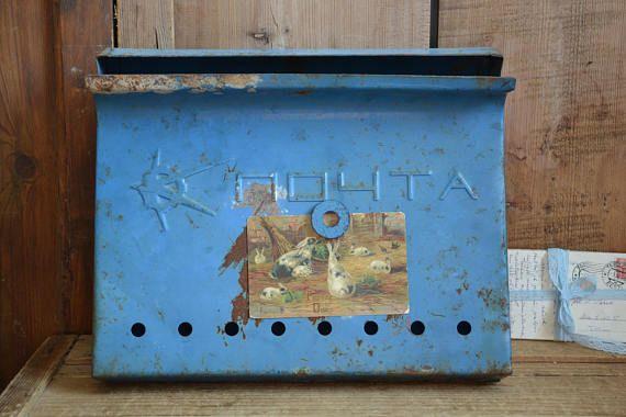 Vintage mailbox Vintage wall metal mailbox Metal mailbox