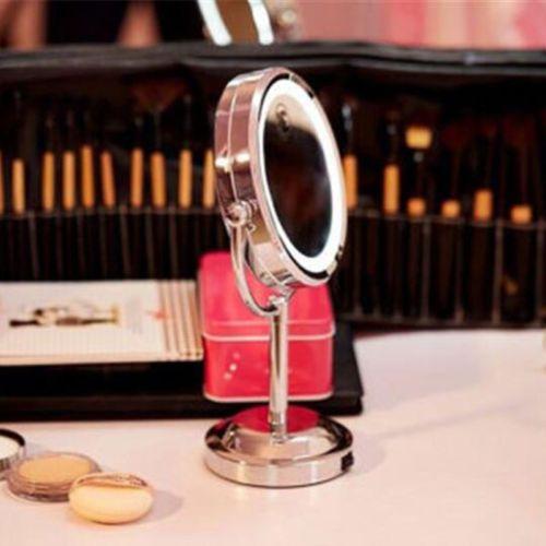 21€con-luz-LED-15-2cm-doble-cara-1X-3X-Lupa-Maquillaje-Cosmetico-Soporte-Espejo