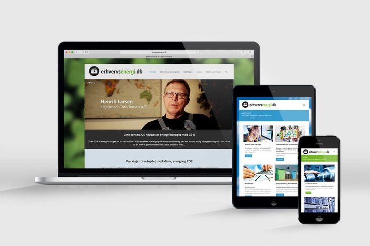 erhvervsenergi.dk –hjælp til grøn omstilling for SMVere – for Energiklyngecenter Sjælland