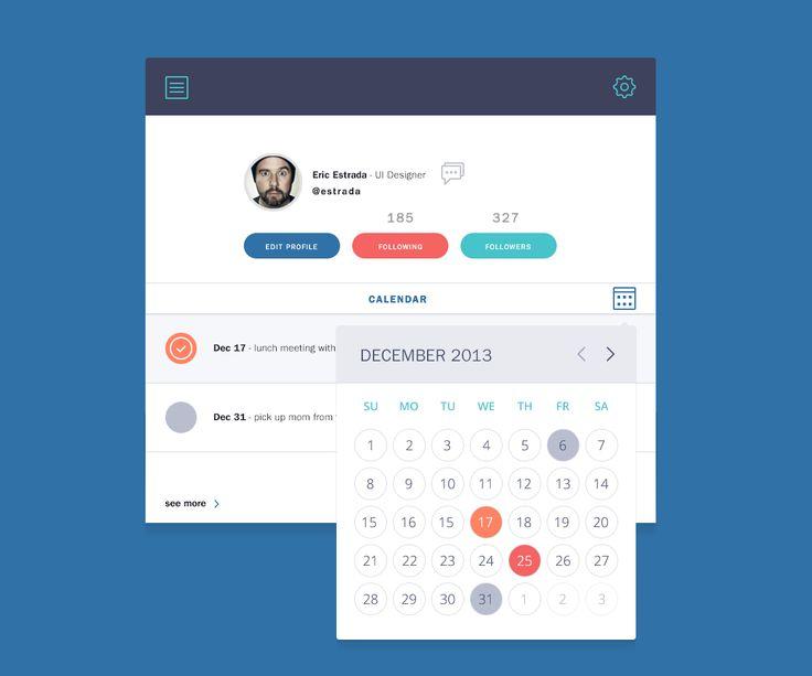 Calendarview  #ui #ux