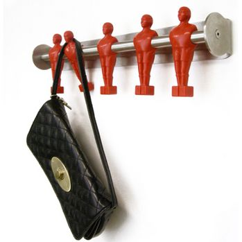 Now this is too cool, how fun to have something to remind us of childhood!!! As an adult forever love it!! Offside Coat Hook by Runa Klock #Foosball_Coat_Hook #Runa_Klock