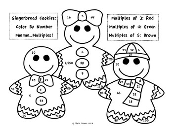 christmaswinter color by number make multiplication fun this holiday season - Color Number Winter Worksheets