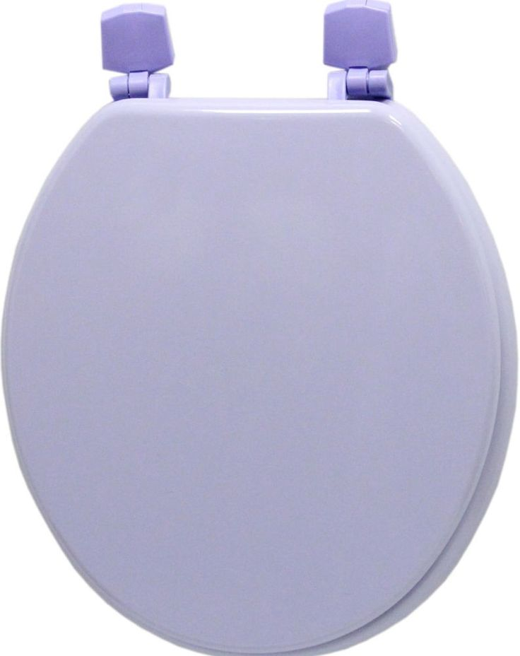 Two Piece Round Molded Solid Wooden Toilet Seat Bathroom Decor With Hinges #ToiletSeat
