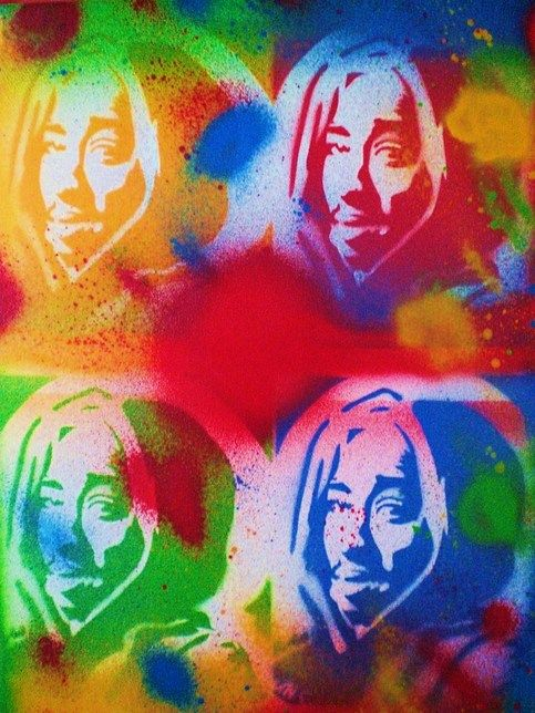 Title-+Tupac+v+Warhol    Medium-+spray+paint+on+canvas    12+inches+by+16+inches    Bright+coloured+small+canvas+of+hip+hop+legend+Tupac+Shakur    Original+painting+that+was+published+in+the+book,+2pac+v+Biggie.    Signed+dated+and+ready+to+hang.    Free+shipping+on+all+paintings.    Available+fo...