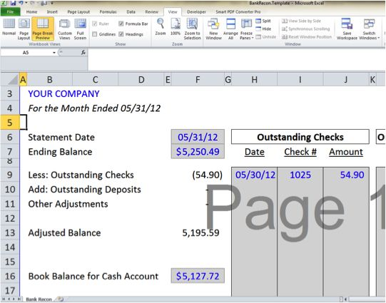 58 best images about Excel \ Microsoft on Pinterest - blank bank reconciliation template