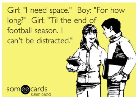 It's not you. It's me…and my obsessive drive to beat all the guys in my Fantasy Football league. Girlslovethegame.com #NFL #FantasyFootball #Fun #Women #Football