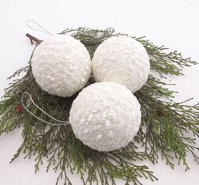 Fancy Snowball Homemade Christmas Ornaments