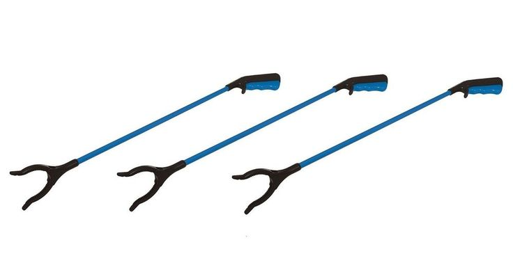 LITTER PICKER PICK UP REACHING TOOL PACK OF 3 GRABBER 82cm MOBILITY ASSISTANCE