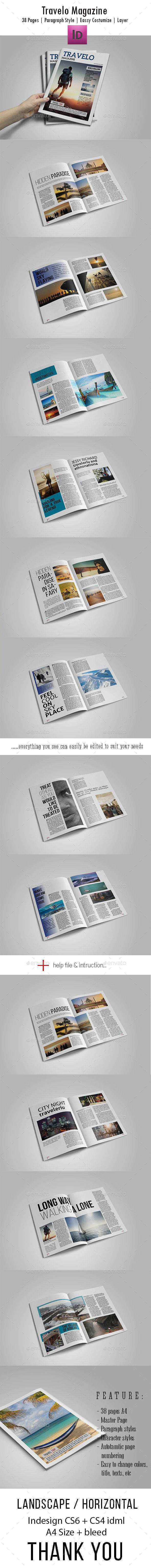 Travel Magazine Template InDesign INDD #design Download: http://graphicriver.net/item/travel-magazine/13402353?ref=ksioks