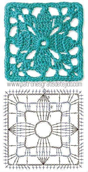 Super Colección Gratis de Patrones de Grannys - Cómo unir los cuadros crochet - 20 tutoriales de prendas y patrones
