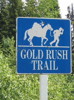 gold rush trail sign