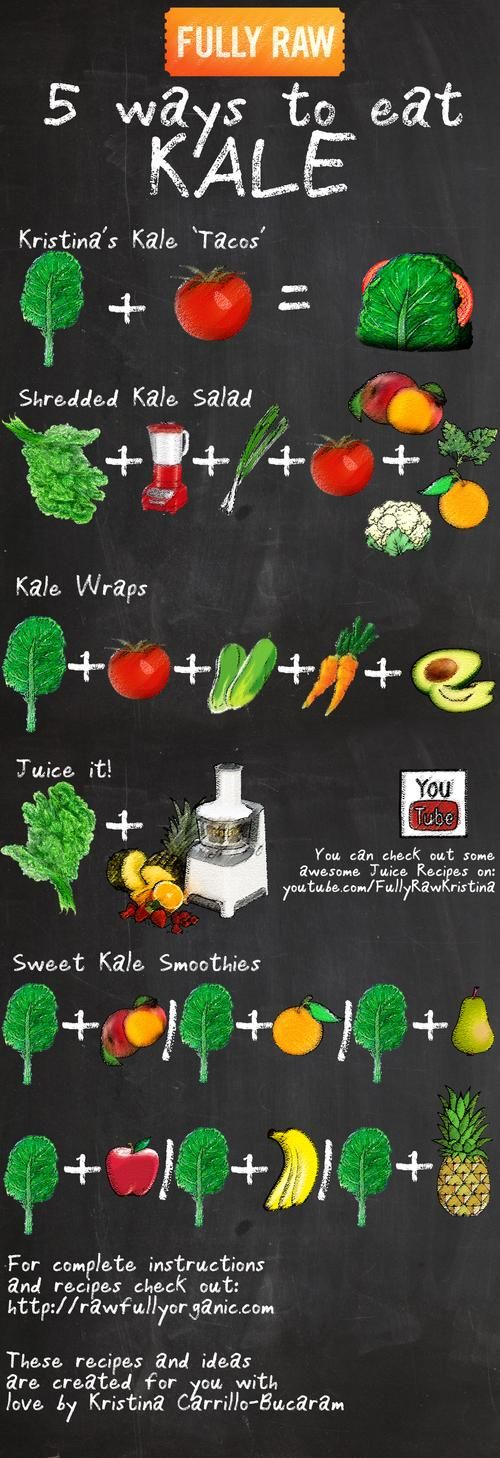 5 Ways to Eat Kale #infographics #foodista.com #interesting