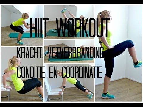 HIIT Workout Kracht, Vetverbranding, Conditie en Coördinatie