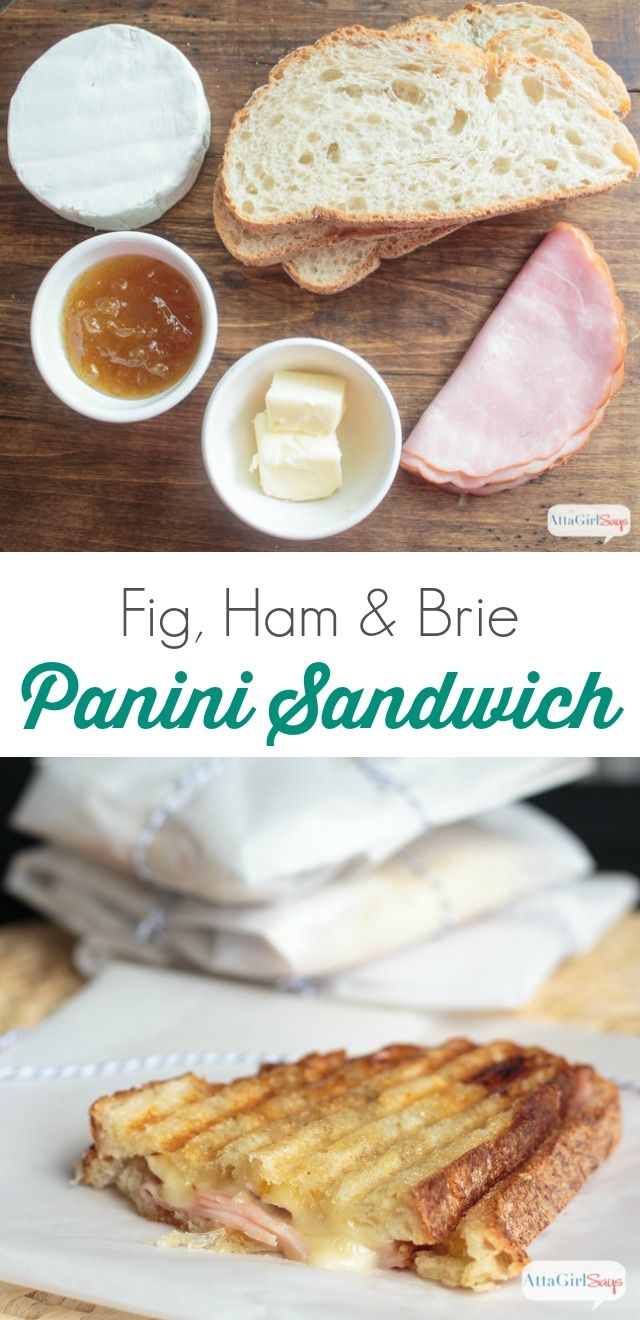 msg 4 21+ Fig jam, ham and brie cheese are a delicious flavor combination. Mellow, sweet and salty. Combined, they make a great toppings for a panini sandwich. #BlackBoxWine #ad #SummerToGo